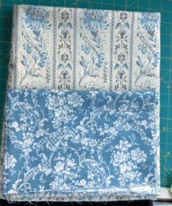 Romantic blue fabrics