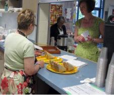 Tea room volunteers