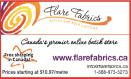 Ad: Flare Fabrics