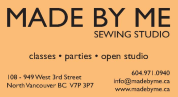Ad: Made By Me Sewing Studio