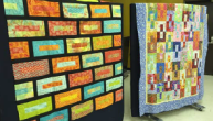 Sample quilts showing just two of the various ways of assembling the core block